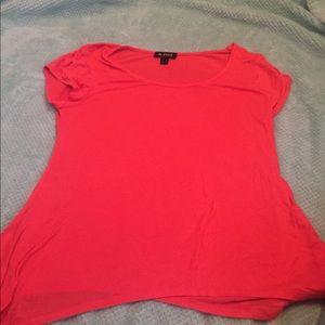 Coral flowy shirt